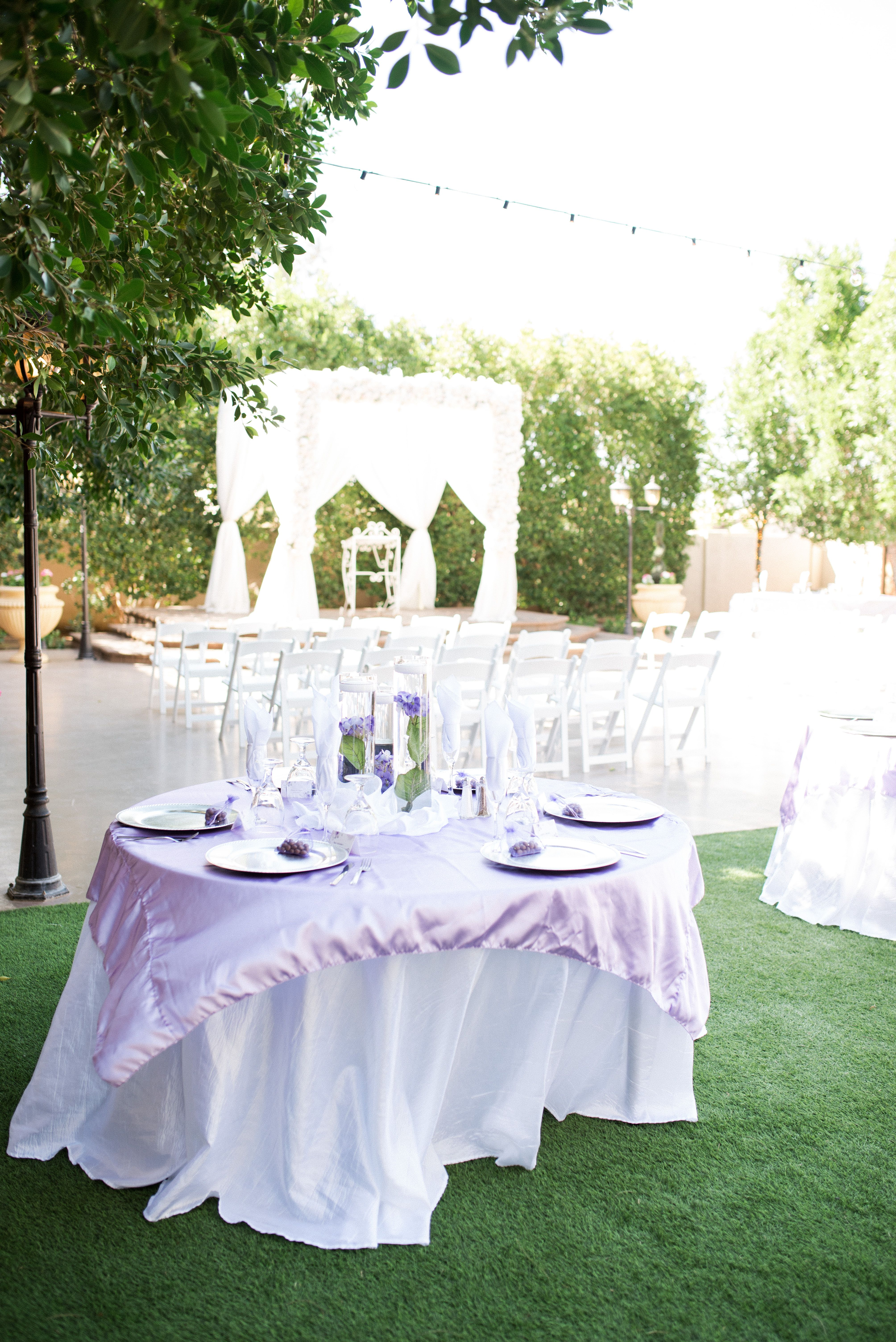 Garden Only Wedding At Garden Tuscana Lavender Purple And Ivory