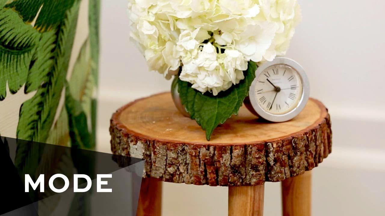Diy Tree Stump Table Glam It Yourself Stump Table Tree Stump