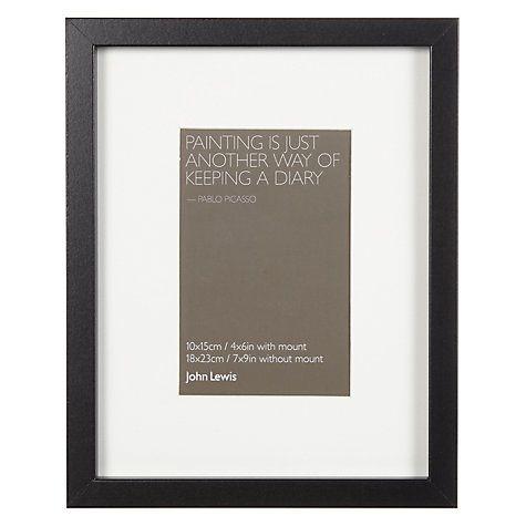 John Lewis Box Frame Mount Fsc Certified 4 X 6 10 X 15cm White Box Frames Frame Photo Frame Mounts