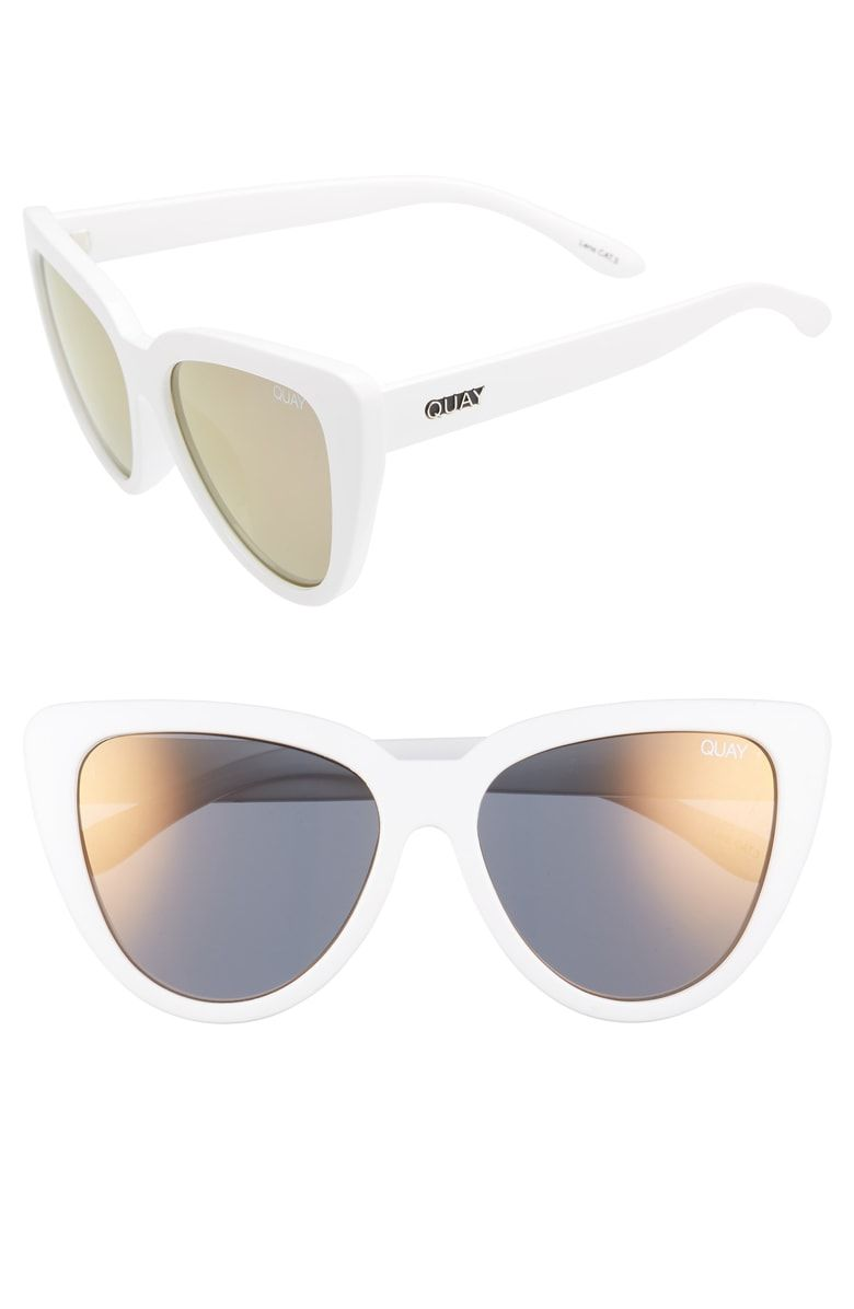 Quay sunglasses white frame with mirrored lenses NWT