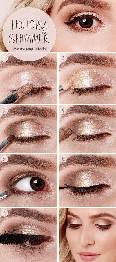 15 Super Easy Makeup Tutorials Die Sie Versuchen Können #browneyeshadow
