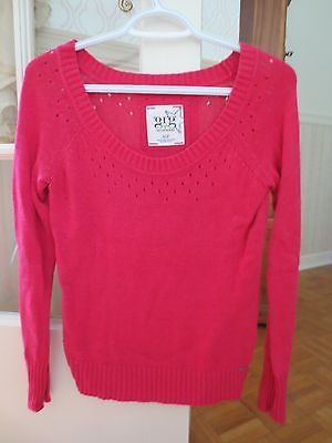 Garage-Montreal-Pink-Sweater-Scoop-Neck-Cut-out-Details-Long-Sleeve-Size-Small