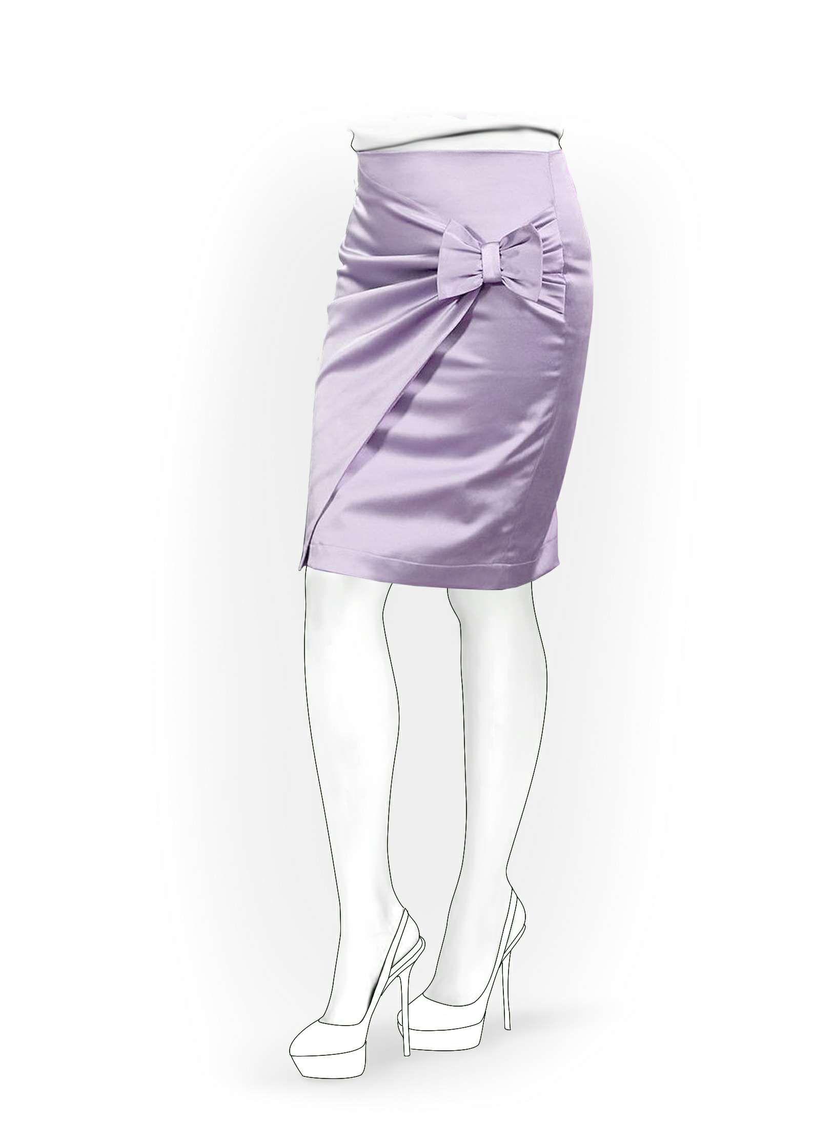 Falda - Patrón de costura # 4068. Hecho a medida patrón de costura ...