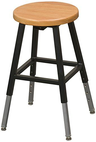 Balt Lab Stool Without Back, Black, 1 Carton Balt