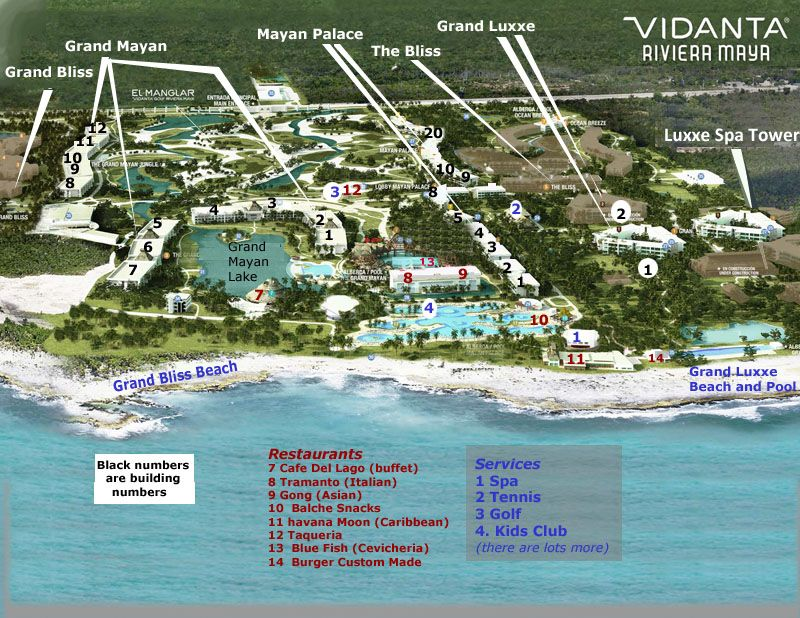 Mayan Resort Map u2013 Riviera Maya u2013