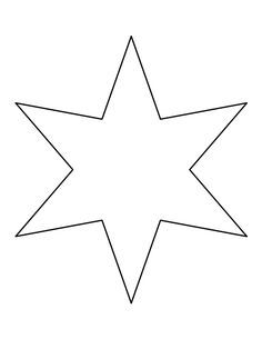 SixPointed Star Pattern Use The Printable Outline For Crafts