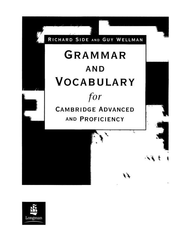 GRAMMAR AND VOCABULARY FOR CAE AND CPE (con imágenes