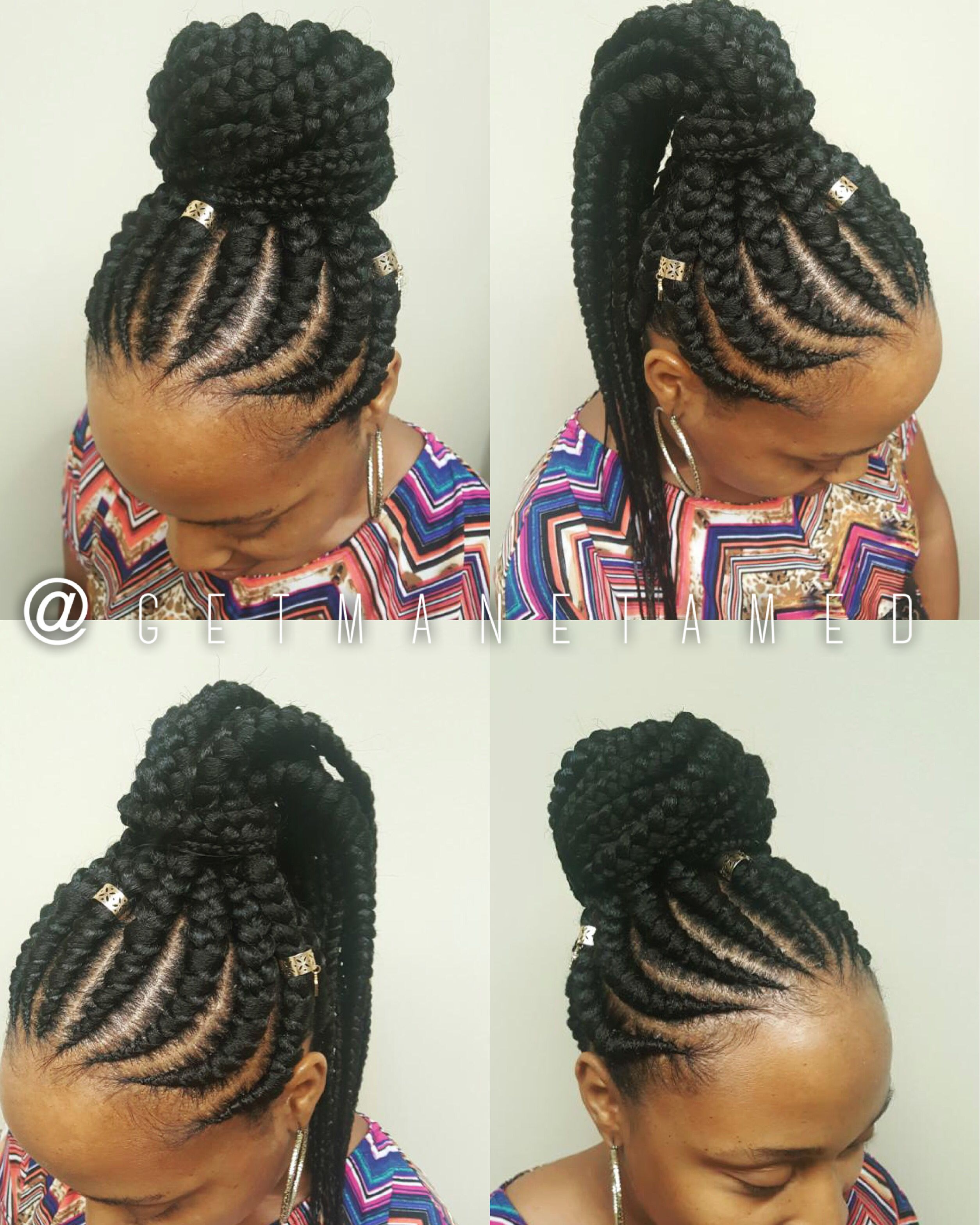 Feed In Braids Feed In Cornrows Ghana Cornrows Braid Designs Cornrows Cornrow Designs Instagra Hair Styles Braided Hairstyles Goddess Braids Hairstyles