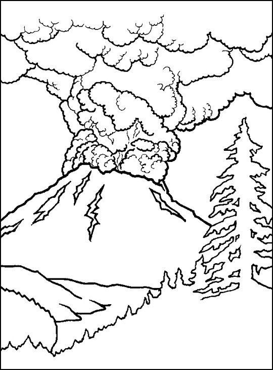Volcano Mini Book Coloring Page  Inspiration  Pinterest  Volcano