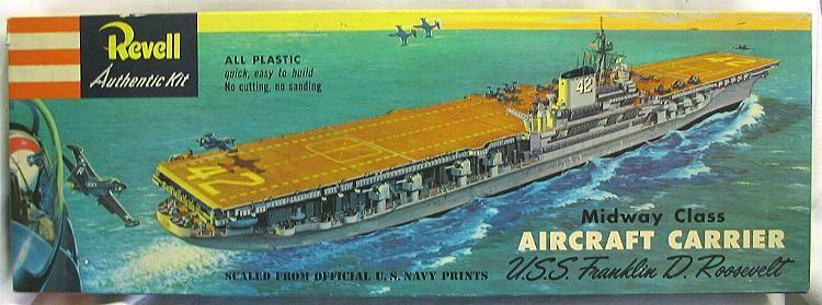 Vintage Revell Plastic Models Sub | Revell 1/547 Midway