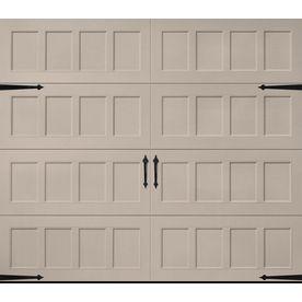 Pella Carriage House 108 In X 84 In Insulated Sandtone Single Garage Door 123501 Single Garage Door Garage Door Design Garage Door Windows