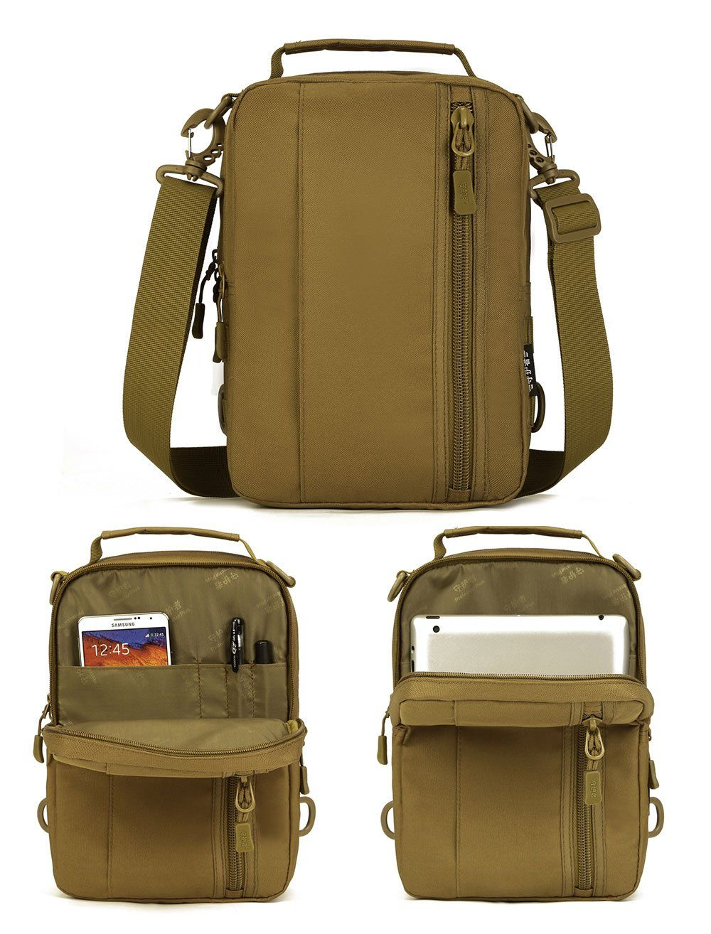862ab01a9b Military Tactical Multi-Functional MOLLE Messenger Bag Backpack Crossbody Shoulder  Bag Handbag Fits 10
