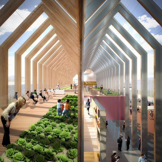 "b720 Fermín Vázquez Arquitectos is part of Pavilion design - Designed by b720 Fermín Vázquez Arquitectos  Barcelona's b720 arquitectos has designed a greenhouseinspired pavilion to represent Spain at the 2015 Milan Expo  Representing a ""fusion"" of"