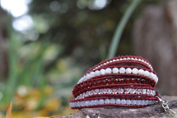 Pi Beta Phi Sorority 5 Wrap Bracelet by LuckyLouDesigns on Etsy, $49.00