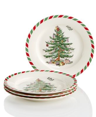 Spode Candy Cane Appetizer Plates, Created for Macy\u0027s China I\u0027d