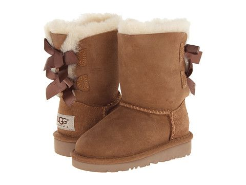 e2972982fc3 UGG Kids Bailey Bow (Toddler/Little Kid) Chestnut - Zappos.com Free ...