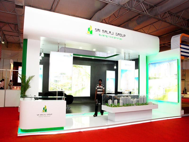 Property Exhibition Booth : Stall design for shri balaji group follow us on linkedin