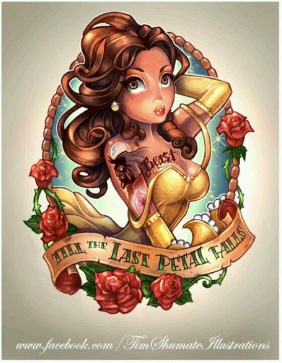 18f5ad123 Belle - Pin-Up Tattoo   Tattoos   Disney tattoos, Disney princess ...
