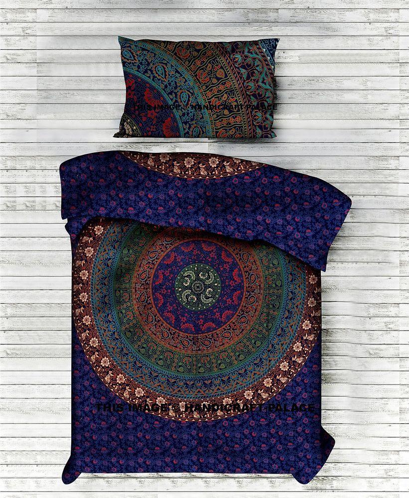 Indische Mandala Baumwoll Duvetabdeckung Hippie Abdeckung Einzelne