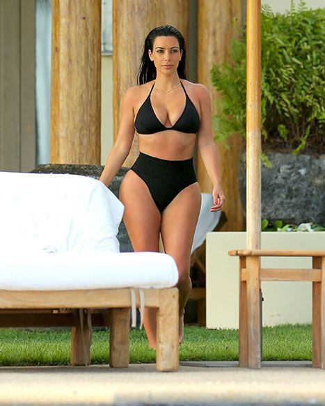 Hot spring swim trends to try kim kardashian the suits for Kim kardashian henley shirt