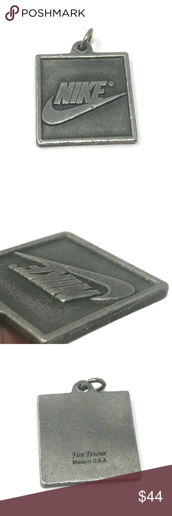 Vintage Nike Pewter Keychain Pendant 1 1 4 Rare Vintage Nike Pewter Pendant Rare Nikes