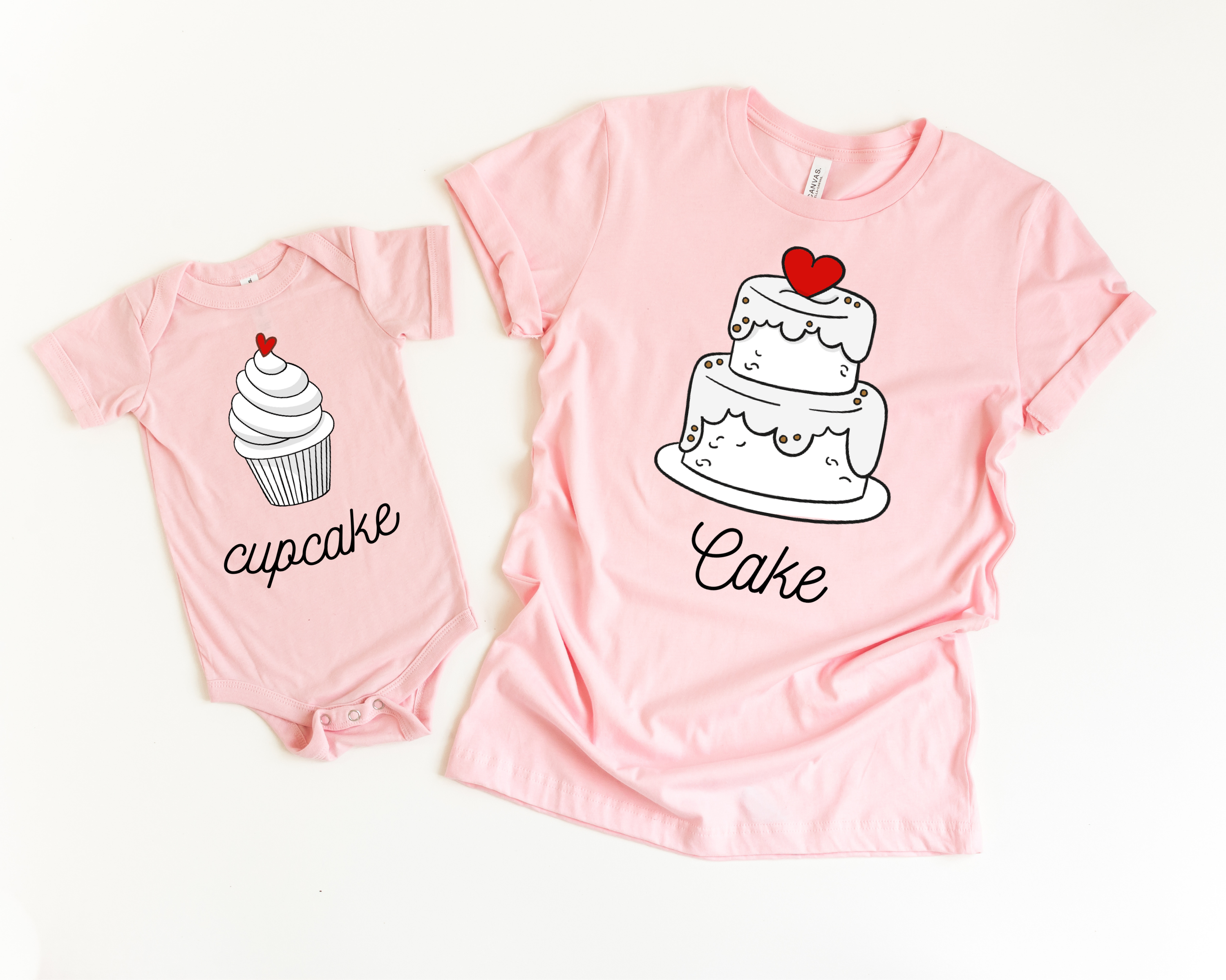 Photo of Cake and Cupcake | Mommy and Me – Unisex M / 5T (Shirt)