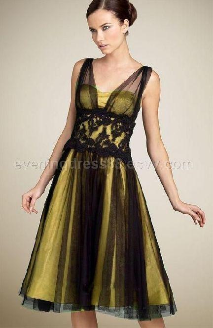 Black And Yellow Bridesmaid Dresses