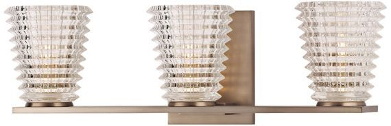 """$355 Conway 19"""" Wide 3-Light Brushed Bronze Wall Sconce ... on Bathroom Sconce Lights Brushed Bronze id=55194"""