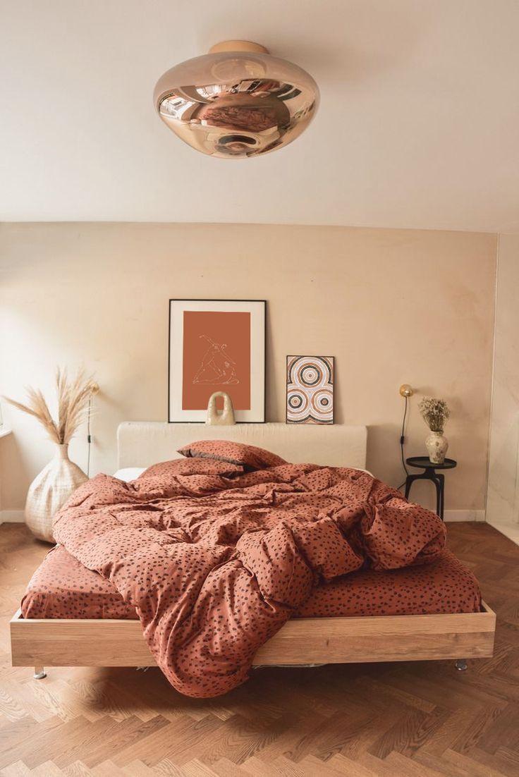 Boho Art Abstract Wall Print Minimal Art Modern Art Modern Print Interior Large Wall Decor Bedroom Decor Cozy Bedroom Interior Bedroom Orange Fresh orange bedroom designs