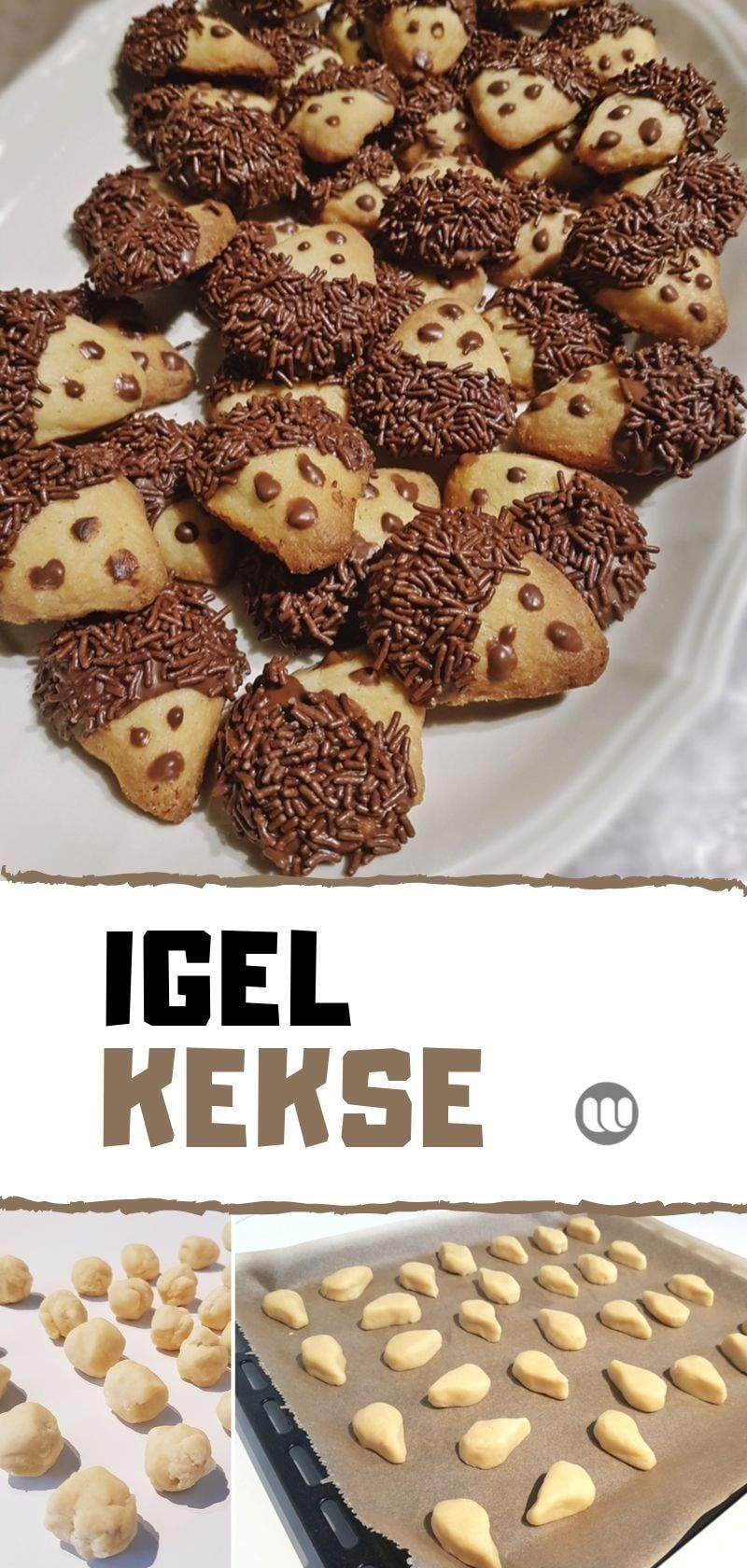 Rezept: Igel-Kekse aus 1-2-3 Mürbeteig backen im Herbst