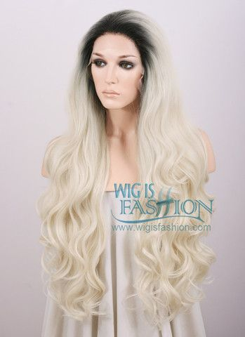 """24"""" Long Curly Black Mixed Blonde Ombre Customizable Made-To-Order Lac"""