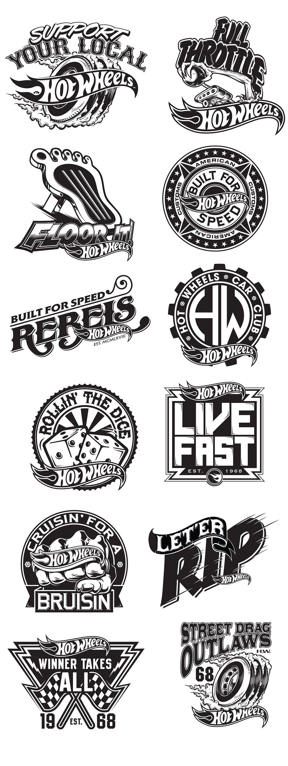 HOT WHEELS LOGO PROJECT on Behance Wheel logo, Logo