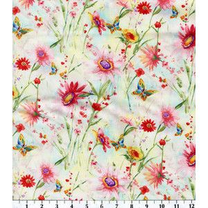 Susan Winget Quilt Fabric- Wildflower Floral Large Floral ... : floral quilting fabric - Adamdwight.com