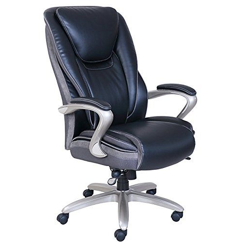 High Quality Serta Smart Layers Hensley Executive Big Tall Chair BlackSilver, This  Stylish Ergonomic Big And Tall Executive Chair Is Designed To Help Improve  Your ...