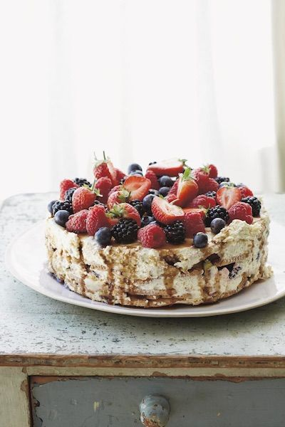 Mixed Berry No Bake Cake An Easy Dinner Party Dessert Recipe From