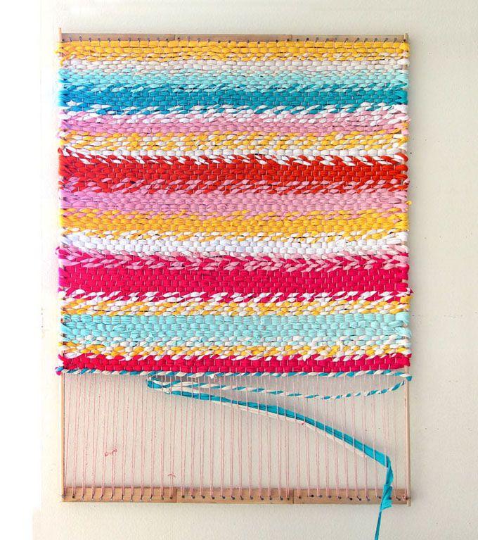 Diy Rag Rug Basket: Weave A Boho T-shirt Rag Rug With Easy DIY Loom