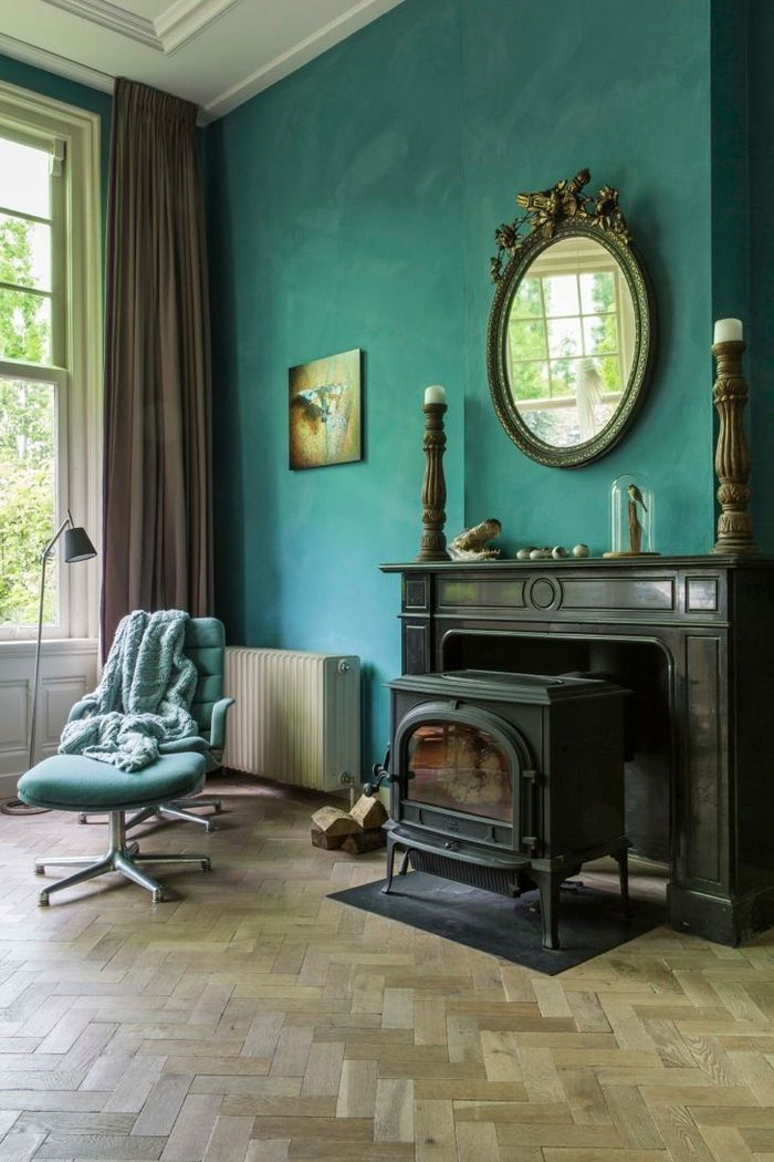 1001 id es d co avec la couleur bleu canard pour une ambiance apaisante et naturelle rideau. Black Bedroom Furniture Sets. Home Design Ideas