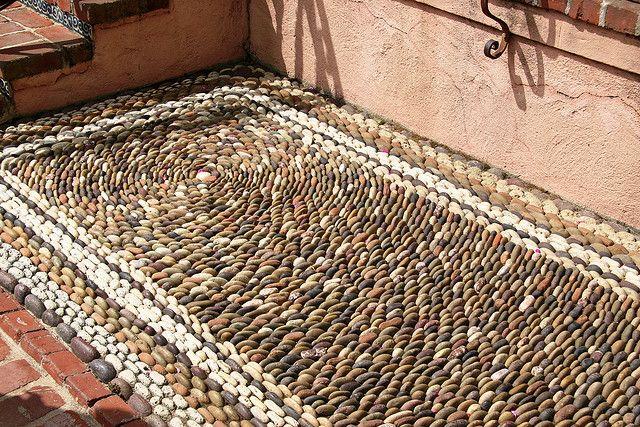 Pebble mosaic, The Parterre, Lotusland by brewbooks, via Flickr