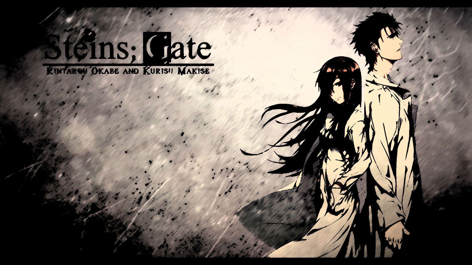 Steins Gate Makise Kurisu Okabe Rintarou Gj Wallpaper 1920x1080