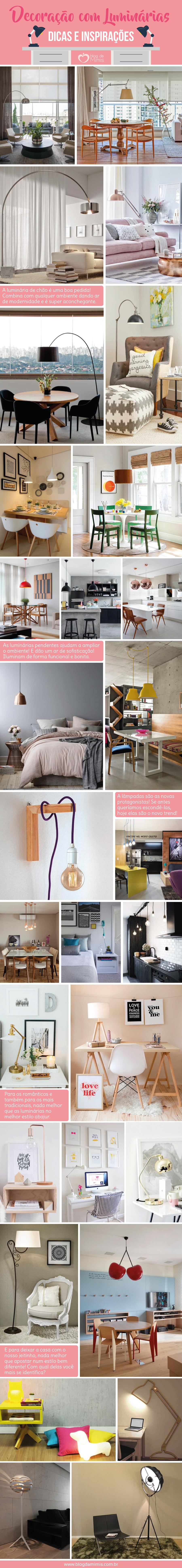 Decoração com luminárias: dicas e inspirações - Blog da Mimis #decoração #decor #blog