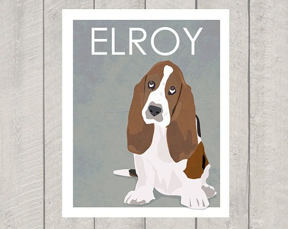 He encontrado este interesante anuncio de Etsy en https://www.etsy.com/es/listing/108935019/basset-hound-art-print-custom-dog-art