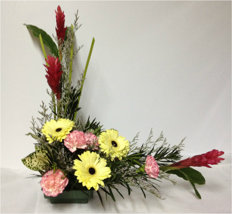 Types Of Flower Arrangement Shapes: L Shape Floral Arrangements