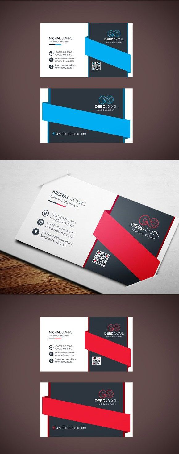 Simple Professional Business Card   Business cards, Card templates ...