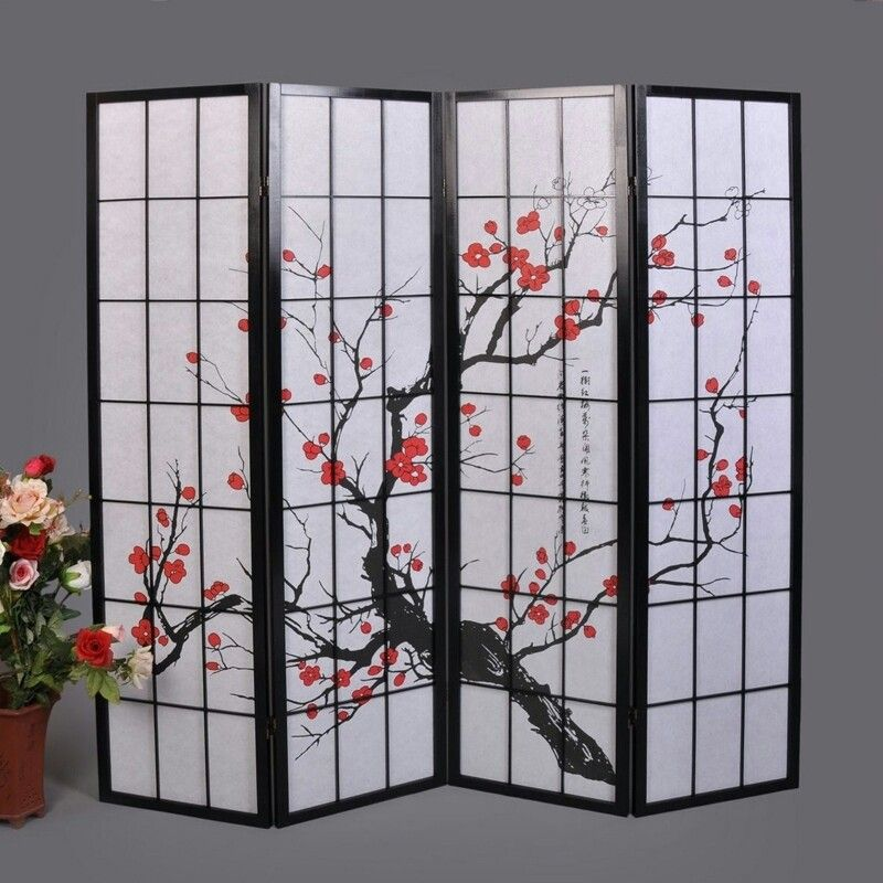 Beautiful Changing Screen Room Divider Oriental Furniture Room