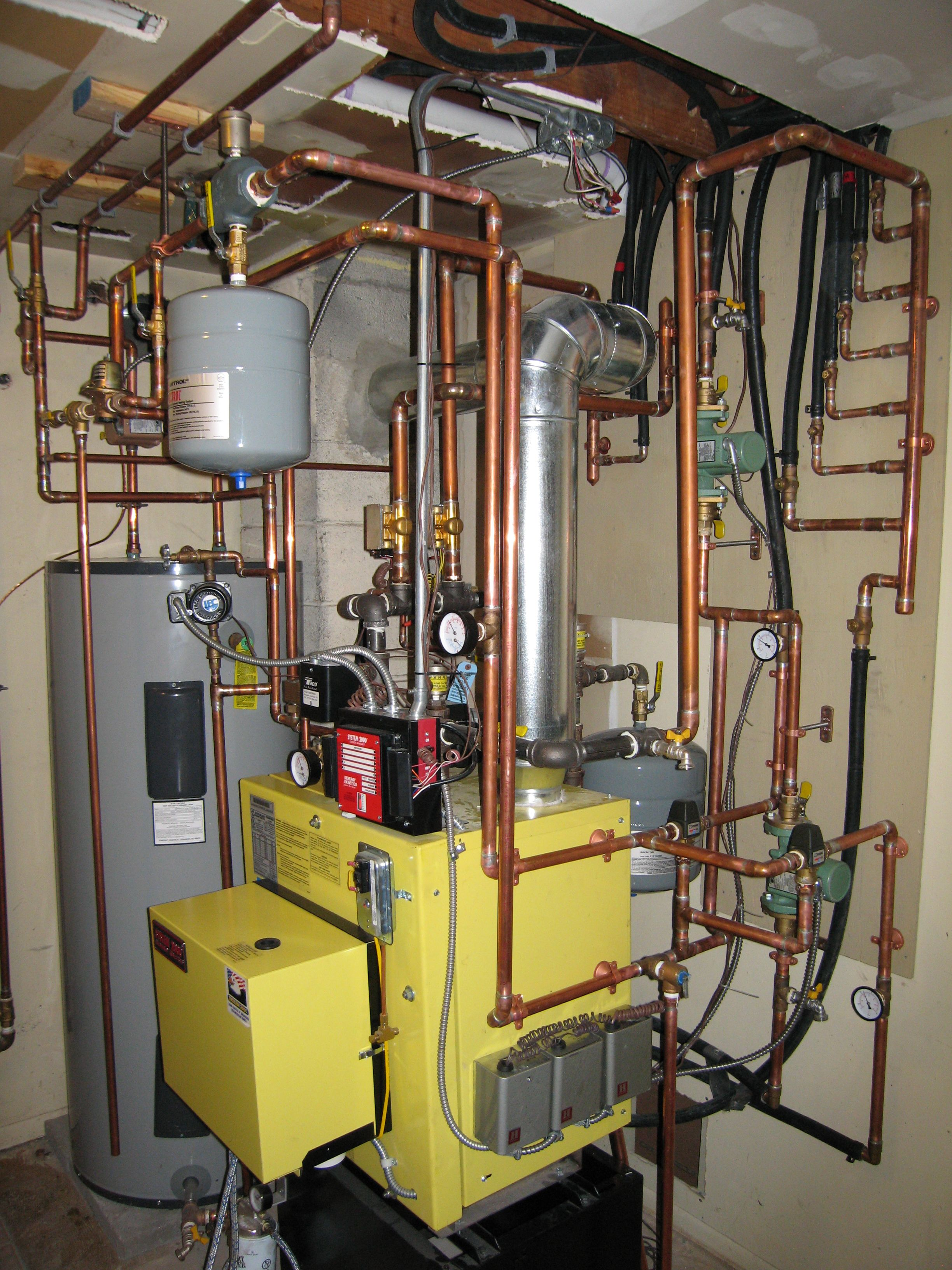 System2000 Energy Kinetics Fuel Oil Boiler install with radiant heat