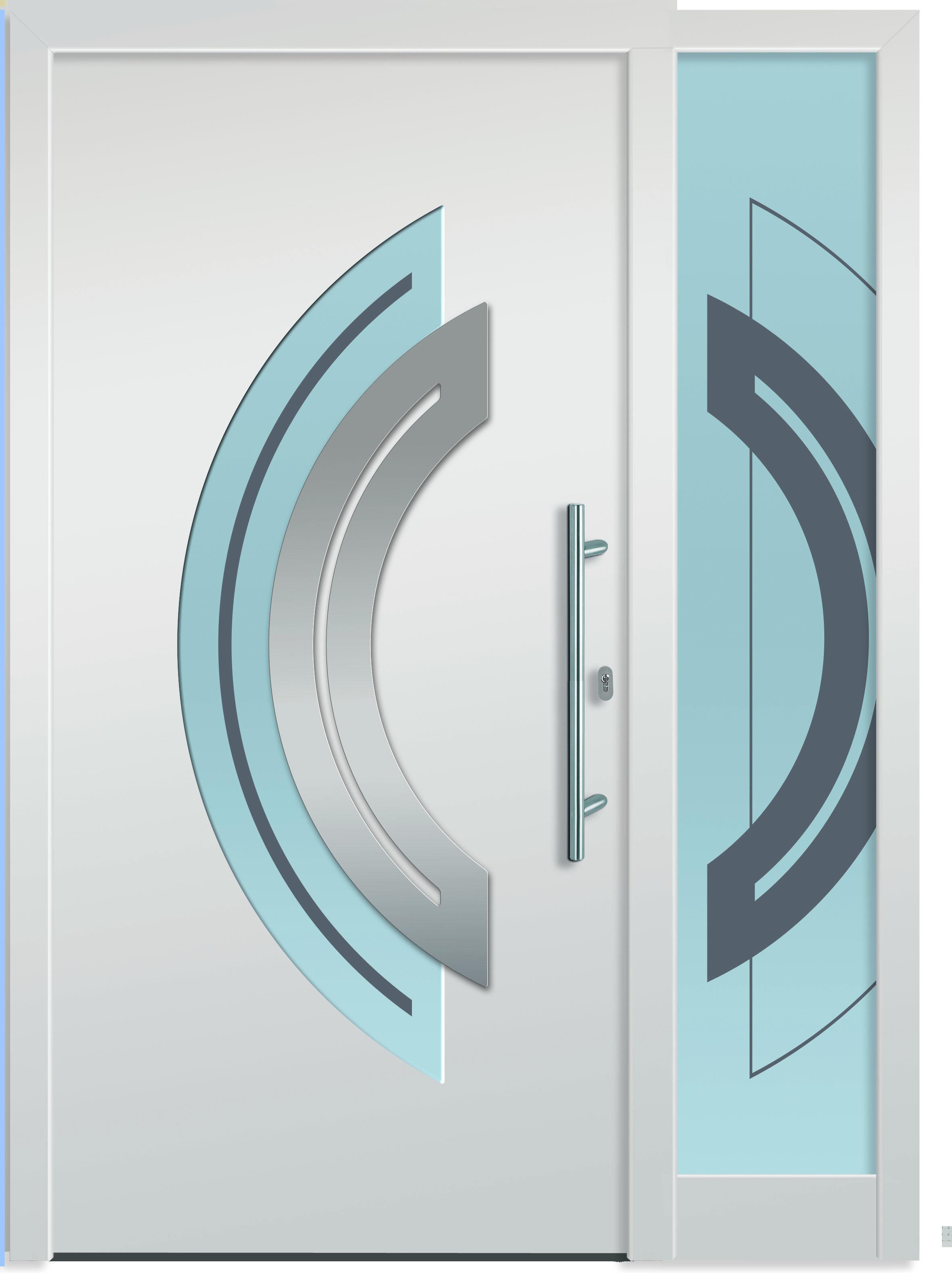 Aluminium-Eingangstüre Spika 2 - Außen flügelüberdeckende Eingangstüre mit…