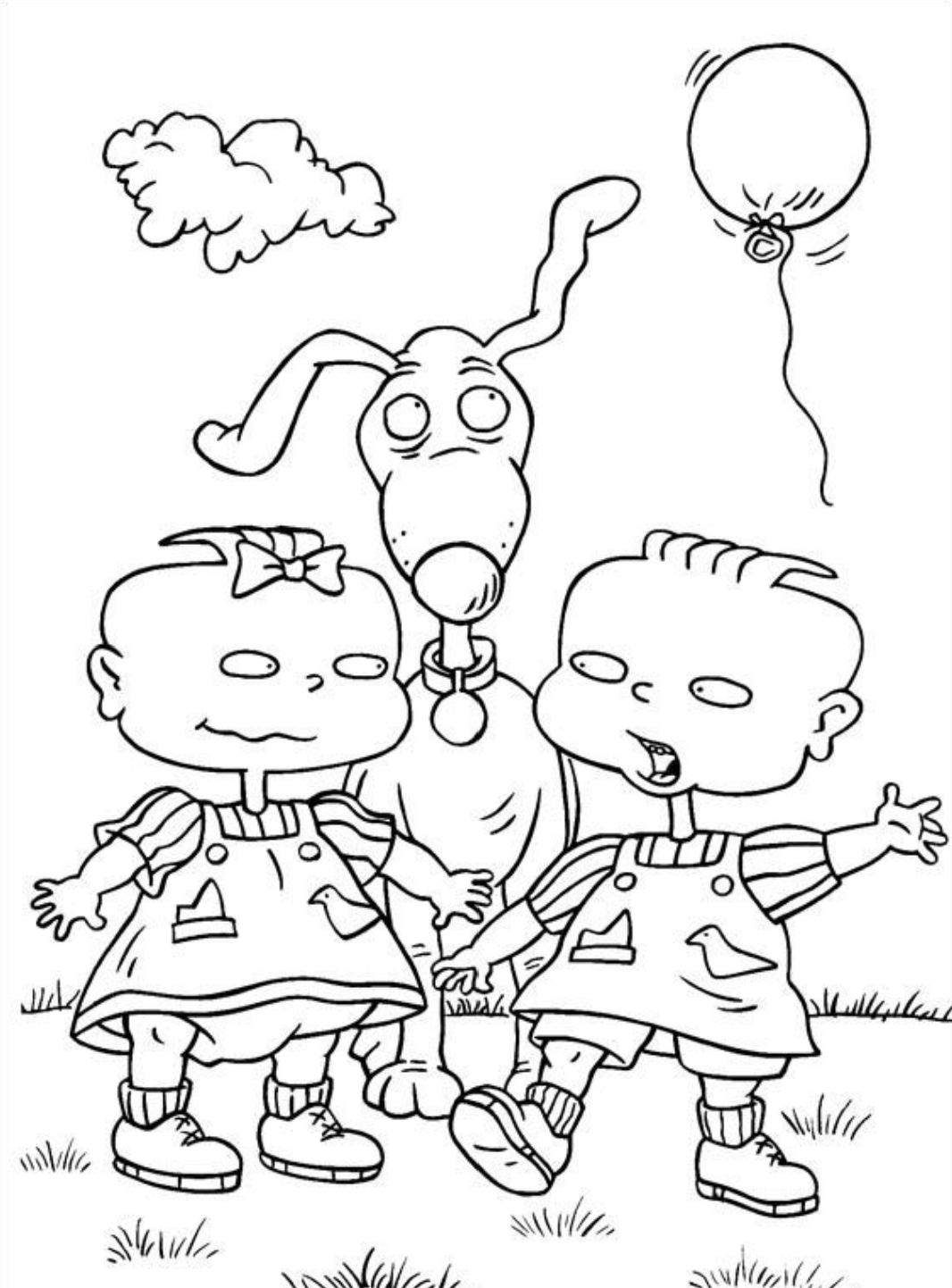 Rugrats Coloring Page Cartoon Coloring Pages Cool Coloring Pages Coloring Pages