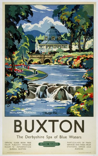 Buxton - The Derbyshire spa of blue waters - 1950's - (Kenneth Steel) -
