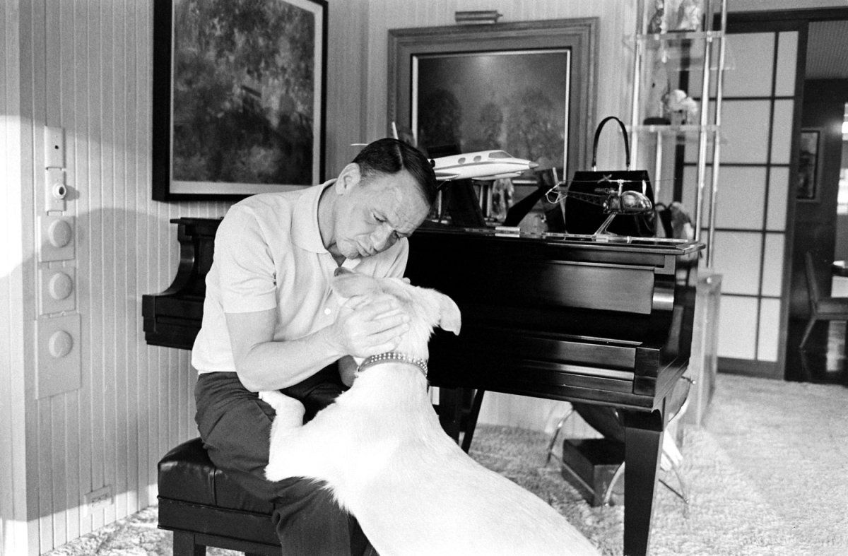 Not published in LIFE. Frank Sinatra and his dog, Ringo, at Sinatra's home in Palm Springs, California, in 1965. Read more: Frank Sinatra: Photos From the Chairman's Private World, 1965 | LIFE.com