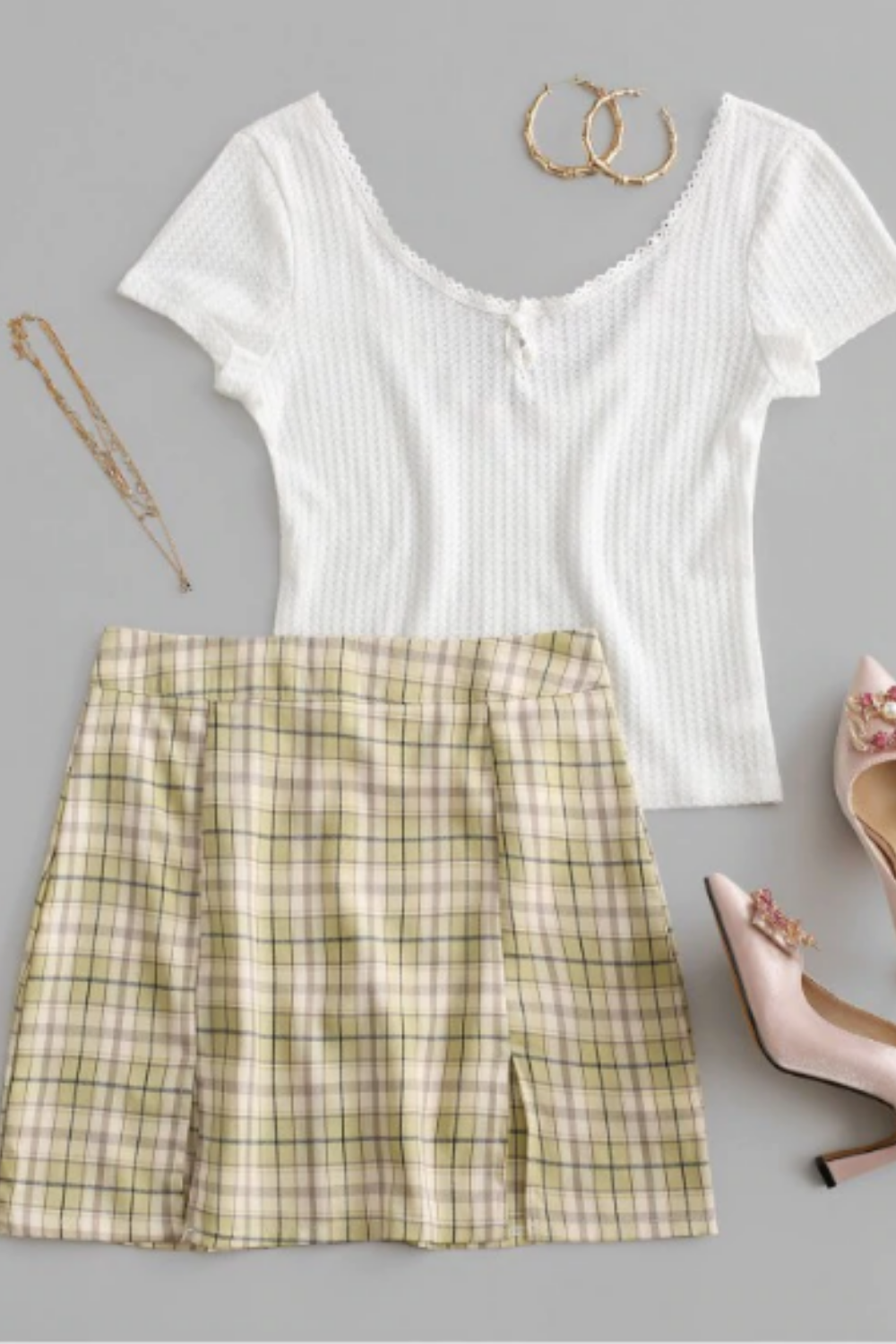 Cute skirt outfit for summer 2020 Click Now ! #skirtoutfit #summeroutfits